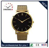 Costume da cinta de couro do relógio da caixa de aço inoxidável próprios relógio (DC-033)