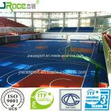 De binnen RubberBevloering van het Hof van het Basketbal