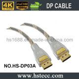 Câble de bonne qualité de Displayport millimètre en métal avec des loquets