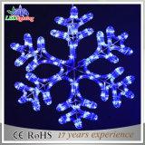 屋外の休日LEDの雪片のクリスマスの装飾の白色光
