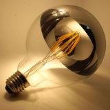 金ハウジングが付いているE27 G125 LEDのフィラメントの球根