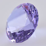 Диамант кристаллический стекла романтичной благосклонности венчания пурпуровый