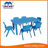 아이 Furniture Blue Kids Plastic Study Table와 Chair
