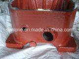 赤いPlaintedの砂型で作るプロセス変速機