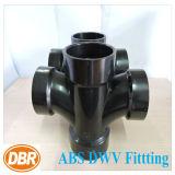 ABS Dwv размера 2 дюймов приспосабливая двойной санитарный тройник