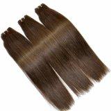 Cabelo 100% reto de seda escuro de Brown das extensões do cabelo humano de Remy