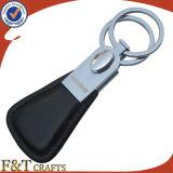 Cuero genuino Keychain del hotel de encargo con diverso número (FTKC1758A)