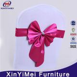Горячие продавая оптовым цветастым орденские ленты стула ткани сатинировки используемые венчанием