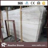 Preiswerteste weiße hölzerne Ader-Marmor-Platte für Innengebrauch
