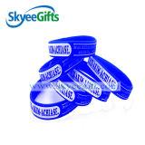 Il braccialetto di gomma del Wristband del silicone del braccialetto delle 2016 mani per forma fisica delle coppie mette in mostra l'acciaio del braccialetto del silicone