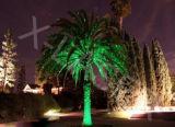 Luz vermelha ao ar livre da estrela da noite do laser do verde