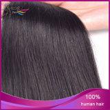 Extensión india sin procesar recta de seda del pelo humano