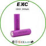 最新の低い自己放電2000mAh 3.7V 18650電池