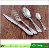 Cuillère à café de fourchette de couteau de cuillère d'acier inoxydable couverts de 4 morceaux