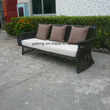 最上質の安く総合的で大きい円形の藤の3シートSofaがセットする屋外の庭の家具のソファー及び単一のソファー(YT603)