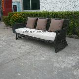 最上質の競争価格の総合的な藤の屋外の庭の家具のソファーは3シートSofa及び単一のソファー(YT603)によってセットした