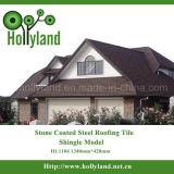 Покрашенный стальной лист крыши с камнем покрыл (плитка гонта)