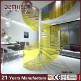 Abgetöntes Glasgeländer-gewundenes Treppenhaus (DMS-1041)