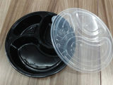 3 격실 Round Plastic Microwave 또는 Take Away /Fast Food Container