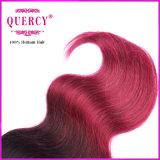 Heiße Verkaufs-brasilianische Jungfrau Remy Karosserien-Welle Ombre Haar-Extensionen