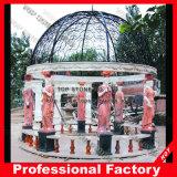 De Marmeren Tuin Gazebo van de steen met het Gieten van de Bovenkant van het Ijzer voor Tuin