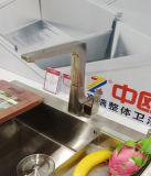Faucet montado plataforma do dissipador de cozinha com único punho