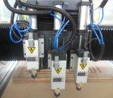 Máquina de gravura do Woodworking da mudança do eixo do ATS dois