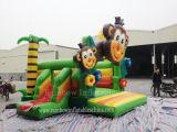 Château sautant de jungle gonflable populaire du singe 2016