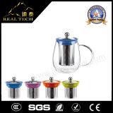 Чайник кривого создателя чая стеклянный с нержавеющей сталью Infuser
