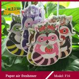 Ambientador de aire de papel colgante modificado para requisitos particulares dimensión de una variable animal linda de la insignia