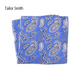 流行の青い絹によって印刷されるペーズリーのハンカチーフのポケット正方形のハンカチ