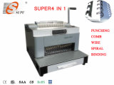 Comb Wire Spiral Coil와 Punching (SUPER4&1)를 가진 새로운 Design Multifunction Binding Machine