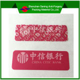 Accettare Custom Order e Anti-Counterfeit Feature Adhesive Stickers