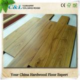 旧式な金カラー中国のチークの純木のフロアーリング