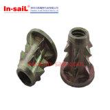 M8 flangeou a inserção de madeira no fabricante de Shenzhen do aço de carbono