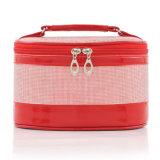 Fashion PU女性装飾的な構成の洗面用品の洗浄美のケース(YKY7538)