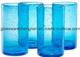 Set 4PCS Kobalt-Blau-des hohen Kugel-Glases (B-C021)