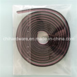 5*6mm Grey 또는 Black Wool Pile Weather Strip Pile Brush Silicon Felt, Adhesive