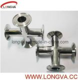 304/316L Sanitary Stainless Steel Clamped Cross Four Way