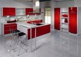 現代白いアクリルの食器棚(ZHUV)