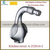 Faucet de água sanitário do dissipador de cozinha do punho do dobro dos mercadorias