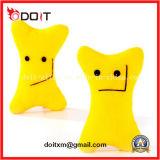Giocattolo Smily giallo della peluche del cane di giocattolo dell'animale domestico dell'osso