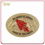 Выгравированная таможней пряжка пояса металла украшения камня самоцвета