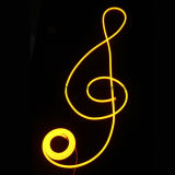 Le double a dégrossi lumière au néon ultra mince de corde