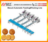 Tipo linha automática da alimentação do biscoito & de embalagem