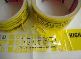 カスタム機密保護ボイドシールテープ; 保証の無効のシール; カートンのためのタンパーの明白な無効テープ