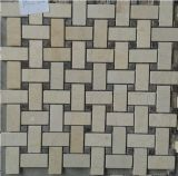 Mattonelle di mosaico di pietra di marmo naturali (FYSSC146)