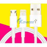 2 in 1 Kabel USB voor iPhone en Androïde Telefoons