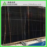 Lauren Black Gold Marble con White Veins