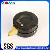 """2.5 """" manomètres courants de support radial de pouce 0.16MPa avec la vente chaude de fixation en laiton en acier noire de cas en Russie"""
